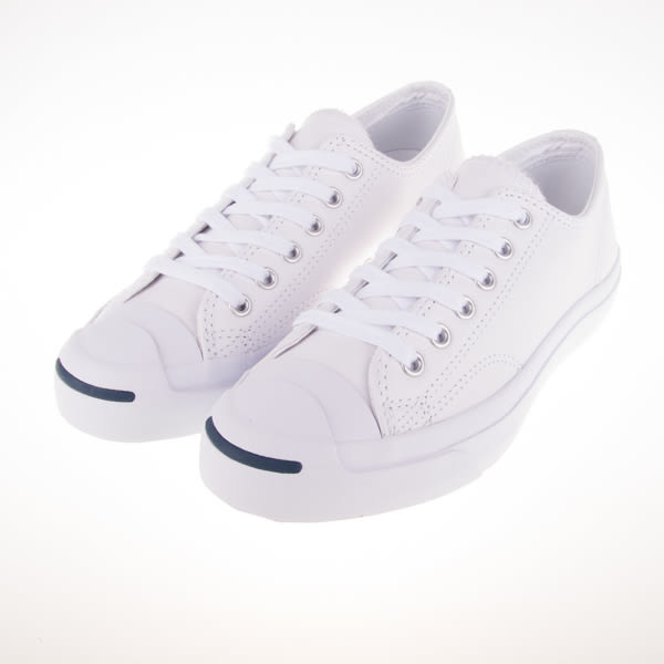 CONVERSE JACK PURCELL 全白 開口笑 皮革 皮質 荔枝皮 1S961