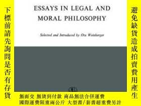 二手書博民逛書店Essays罕見In Legal And Moral Philo