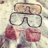 時髦方形邊框墨鏡近視鏡大方框男女網紅明星款大框眼鏡架平光鏡框【博雅生活館】