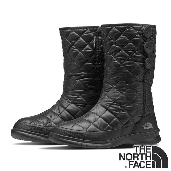 【THE NORTH FACE 美國】女 防潑水保暖中筒雪鞋『H31 黑』NF0A2T5K 防滑鞋底.雪地靴.滑雪.抗寒