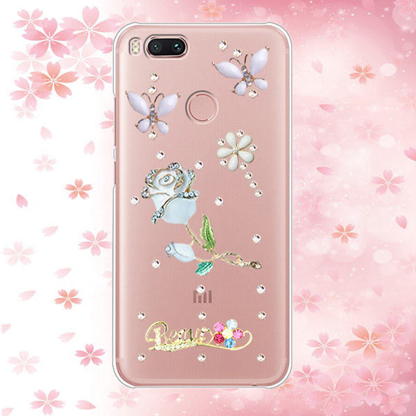 三星 Note10 A80 A70 A50 A40S A30 A60 S10 S9 A9 A8 A7 Note9 Note8 J8 J6 J4 J7 手機殼 水鑽殼 客製化 訂做 白蝶玫瑰