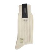 KENZO 經典直條紋紳士襪(米白色)980102