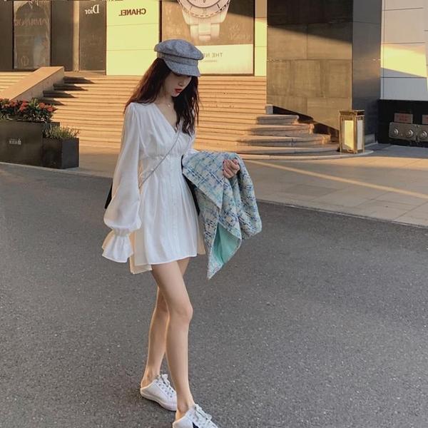 洋裝秋裝年新款氣質小個子洋裝女溫柔chic森繫超仙女襯衫裙子夏【快速出貨】