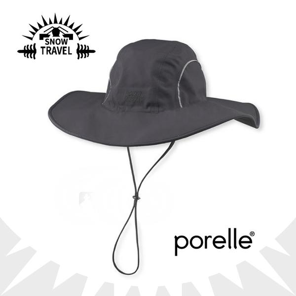 【SNOW TRAVEL 英國防水透氣遮陽大盤帽《黑》】AH-16/遮陽帽/大圓盤帽/休閒帽/防曬/適登山健行