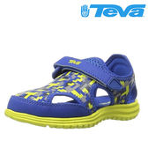 TEVA 兒童 Tidepool Sport  學步水陸朔溪 戶外快乾涼鞋 護指涼鞋-馬賽克藍 10422TBLDC