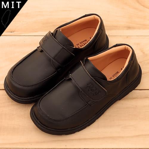 男女童 黑色素面魔鬼氈 MIT製造 全黑皮鞋 合唱團鞋 59鞋廊