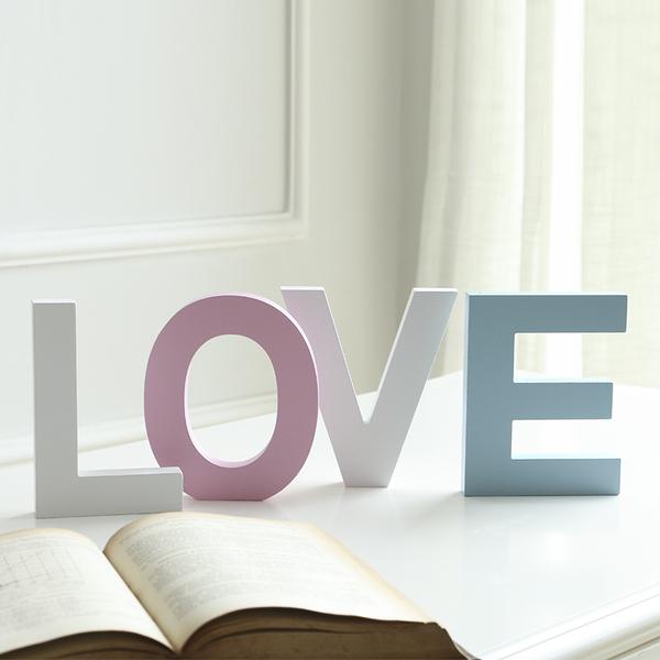 diy木質英文字母家居創意擺件婚慶裝飾擺設壁飾拍攝道具小號粉色─預購CH1996