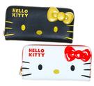 【卡漫城】 Hello Kitty 長夾 大臉 二款選一 ㊣版 手機包 拉鏈平口 皮夾 仿皮 零錢包 卡片夾 凱蒂貓