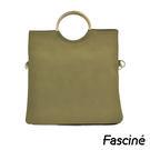 子母包-仿麂皮三用金屬環手拿包 / 斜側包 Fascine [W7055-17]
