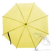 樂嫚妮 自動開傘/直立雨傘-彩色磨砂黃