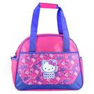 Hello Kitty手提袋 紫色總匯運動手提側背袋/購物袋/側背包/手提包 [喜愛屋]