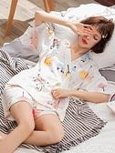 熱賣和服 日式ins風和服睡衣女夏甜美卡通純棉短袖韓版清新學生家居服套裝 coco