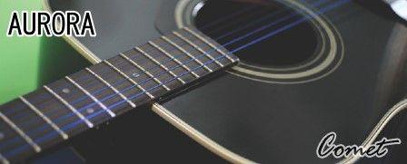 吉他弦 ► AURORA 吉他弦 美國 黑色 民謠弦 木吉他弦 11-50