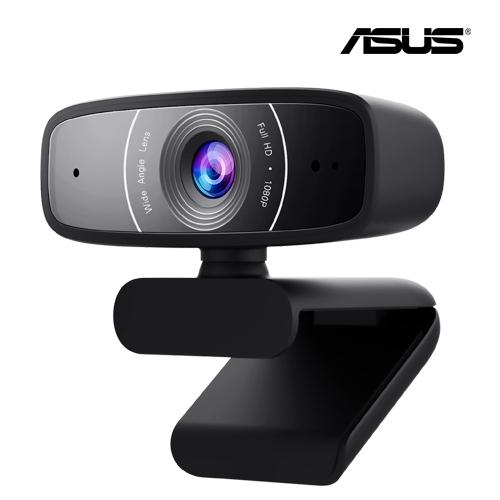 ASUS 華碩 Webcam C3 1080P 廣視角 網路攝影機 CCD 支援360°旋轉/相容於PC、Mac與ChromeOS