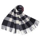 BURBERRY 經典大格紋山羊絨圍巾(海軍藍)089542-2