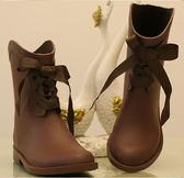 中筒雨靴-設計防滑品味防水女雨鞋3色5s70【時尚巴黎】