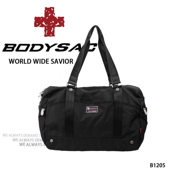 時尚 機能性  手提/ 肩背 / 側背/ 小旅行 包  黑色  AMINAH~【BODYSAC B1205】
