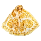 LANVIN花鳥印花披肩絲巾(黃色)487999