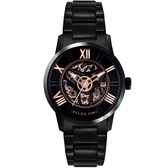 RELAX TIME RT61X系列 羅馬鏤空機械錶-黑45mm RT-61X-3