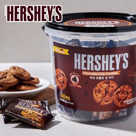 韓國 HERSHEY'S 可可曲奇餅乾 480g 桶裝 可可 巧克力 曲奇餅乾 巧克力曲奇餅乾 餅乾 禮盒