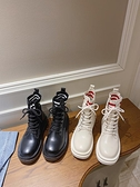 馬丁靴網紅厚底馬丁靴女秋新款英倫風ins潮瘦瘦靴復古黑色機車短靴 JUST M