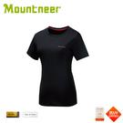 【Mountneer 山林 女 透氣排汗抗UV上衣《黑色》】21P58/短袖/排汗衣/運動短袖/登山露營