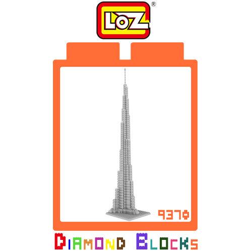 摩比小兔~ 破盤下殺折扣 LOZ 鑽石積木 9370 迪拜塔 建築系列 益智玩具 趣味 腦力激盪 正版積木
