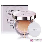 Dior 迪奧 夢幻美肌氣墊粉餅SPF50 PA+++(15gX2)#020+針管香水贈品(隨機出貨)X1【美麗購】