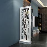 現代簡約客廳家具屏風鏤空座屏隔斷置物架花架時尚玄關屏風隔斷櫃ATF 米希美衣