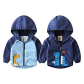 韓版男童外套 男寶寶刷絨連帽立領外套 88597