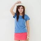 女款3M吸濕排汗T恤 素面T恤 空藍色