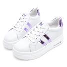 PLAYBOY 閃耀絢彩 輕量厚底小白鞋-白貝殼(Y7305)