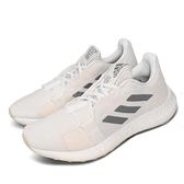 adidas 慢跑鞋 SenseBOOST Go W 白 灰 女鞋 運動鞋 【ACS】 EG0944