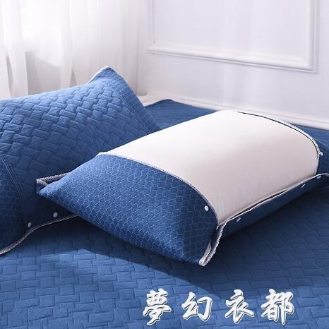 稻草人枕巾純棉一對裝簡約北歐高檔北歐式紗布枕頭巾單人全棉防螨 夢幻衣都