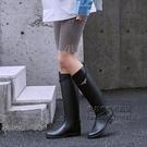 雨鞋女兩穿時尚款外穿馬靴雨靴加絨高筒水靴長筒女士水鞋防水防滑 每日下殺NMS