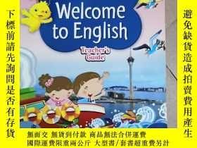二手書博民逛書店原版進口罕見朗文小學英語Longman Welcome to E