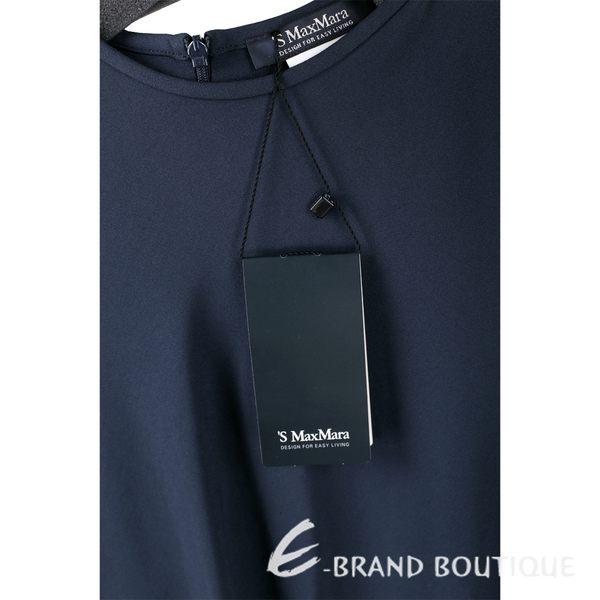 MAX MARA-'S Max Mara 深藍色傘狀七分袖洋裝 1540506-34