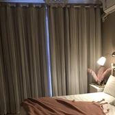 窗簾簡約現代風飄窗遮光布臥室客廳布簾+紗簾雙層更遮光