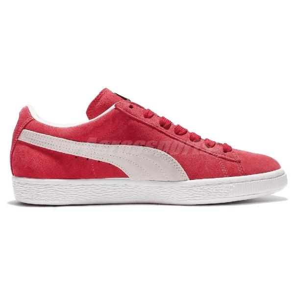Puma 休閒鞋 Suede Classic Red 紅 白 男鞋 女鞋 麂皮 基本款 復古 運動鞋【ACS】 35263405