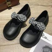 娃娃鞋 軟妹小皮鞋女百搭蝴蝶結平底英倫可愛休閒鞋 - 古梵希鞋包