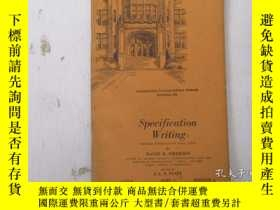 二手書博民逛書店民國:Specification罕見Writing【USA】關於房屋建築結構等Y21905