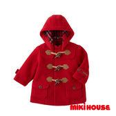 MIKI HOUSE 保暖牛角扣大衣(紅)
