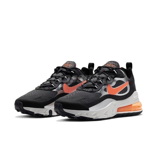 【六折特賣】Nike 休閒鞋 Air Max 270 React 黑 橘 男鞋 網格紋路 氣墊 運動鞋 【PUMP306】 CQ4598-084