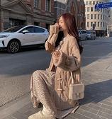 毛衣外套 毛衣開衫女冬加厚中長款寬鬆外穿2021年新款慵懶風針織衫外套【快速出貨八折鉅惠】