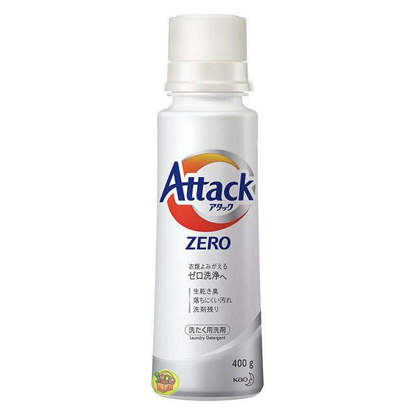 日本 花王kao Attack Zero 濃縮洗衣精 白罐 400g