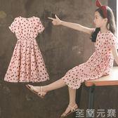 女童洋裝女童夏裝新款裝洋氣韓版洋裝大童公主裙夏季小女孩裙子 至簡元素