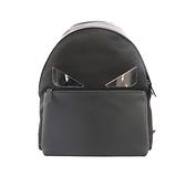 【FENDI】Monster Eyes不鏽鋼眼睛+牛皮拼尼龍Backpack(黑) 7VZ012 A2FT F0GXN