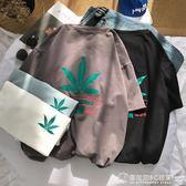原宿潮牌短袖T恤男夏季新款休閒歐美bf風青少年韓版寬鬆大碼體恤  圖拉斯3C百貨
