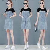 2020夏天新款流行裙子有氣質女裝洋氣高端牛仔洋裝矮個子顯高潮XL3568【東京衣社】