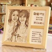 閨蜜生日禮物創意送女生男朋友情侶diy木刻畫訂製刻字照片聖誕節 開春特惠
